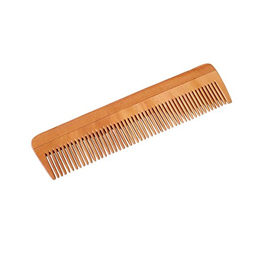 HealthAndYoga(TM) Handcrafted Neem Wood Comb - Non-Static and Eco-Friendly - Great for Scalp and Hair Health - 7 Inches Fine Toothed