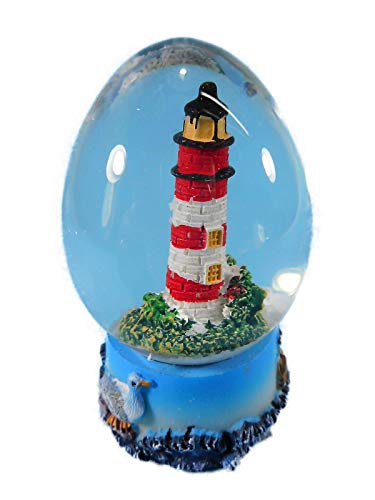 Schüttelkugel Leuchtturm rot 7 x 5 cm Schneekugel Maritim Deko GRF 39.2031