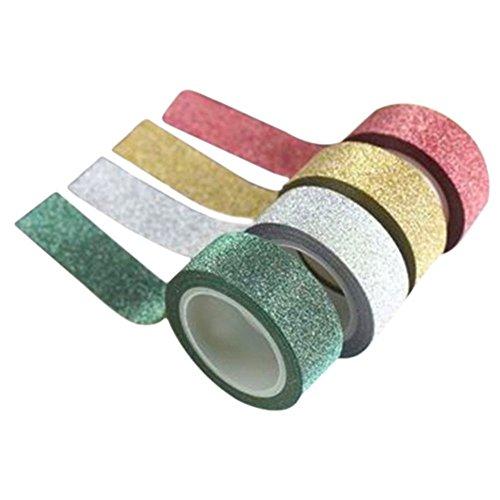 Liroyal - Nastro adesivo, carta adesiva, etichetta per decorazioni fai da te, White, 4-pc