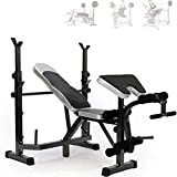 TGSC Barras Pull-up Equipo de Gimnasia Levantamiento de Pesas multifunción Cama Banco Press Rack Barbell Bed Squat Rack Barbell Set Home Bench Press Equipo Profesional de Gimnasio en casa
