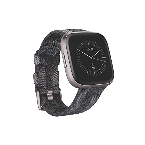 Fitbit Versa 2, Special Edition, Health & Fitness Smartwatch with Voice Control, Sleep Score & Music, SE Smoke Woven