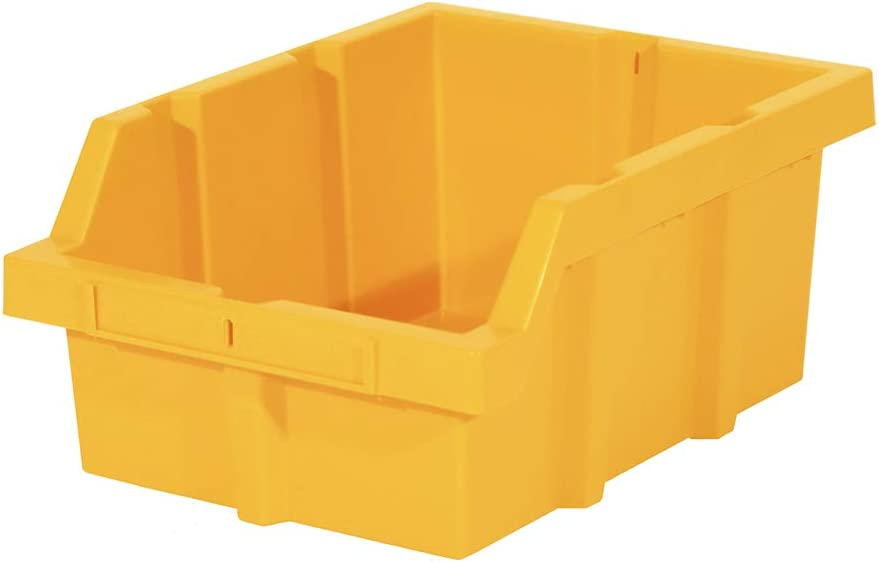 Seville Classics Large Commercial-Grade NSF Bins Gray 3-Pack for Storage System