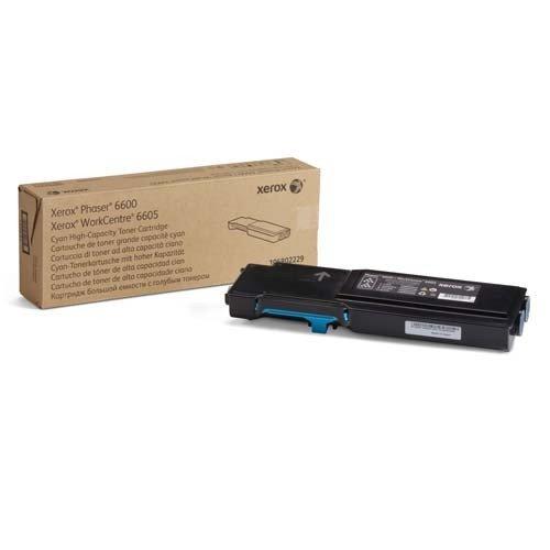 Xerox 106R02229 Phaser 6600/WorkCentre 6605 Cartuccia toner ciano alta capacità (6.000 pagine)