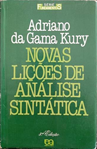 Novas Lições de Análise Sintática/ 3ª Edição