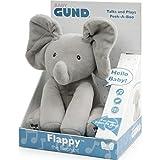 GUND- Flappy Elefantino Peluche Interattivo Parlante, in Italiano, 30.5 Cm, Due Modalità di Gioco, da 10 Mesi