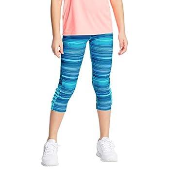 C9 Champion Girls  Performance Capri Leggings Speed Stripe - Blue XL