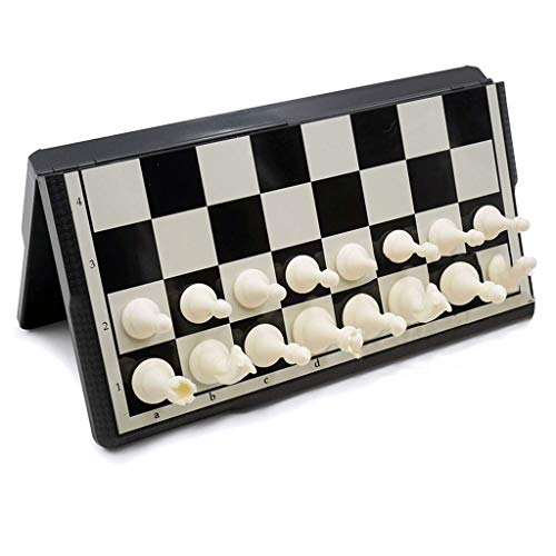 LEILEI Juego de ajedrez Plegable,Juegos de Mesa de Tablero de ajedrez portátiles para familias
