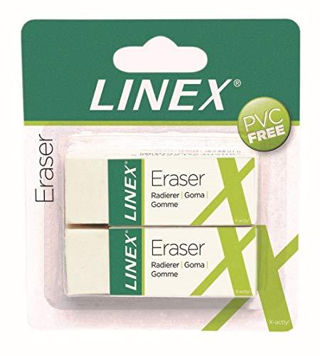 Linex 100417490 Lot de 2 gommes à effacer sans bavc ER30/2B