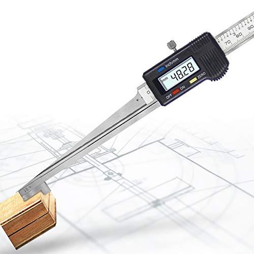 Hanchen Digital Anzeige Keil Fühlerlehre Wedge Feeler Gauge (20-30 mm) für Riss- und Spaltprüfungen Technische Zeichnung, ohne Batterie