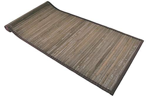 Casatessile Bamboe gewassen tapijt multifunctionele rijstrook - MARRONE, 50x75 cm.