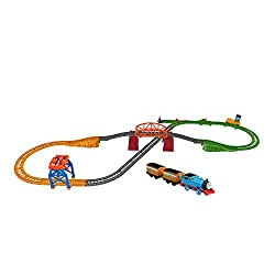 ​Thomas & Friends TrackMaster train set with 3 different track layouts ​Compatible with other TrackMaster track sets for limitless railway play. (Additional track sold separately.) Send Annie and Clarabel racing around the Island of Sodor attached to...