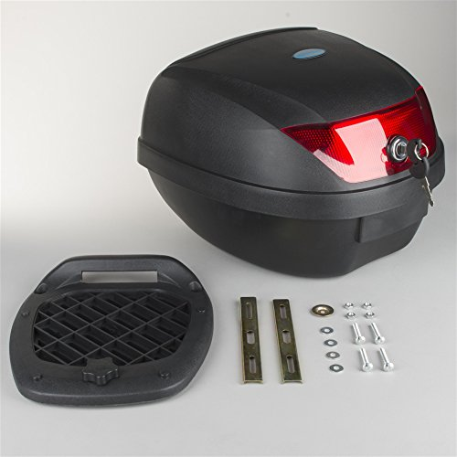 Oxford OL201 Black 1st Time Motorcycle Hard Luggage Top Box - 44 L/11.6 Gallon