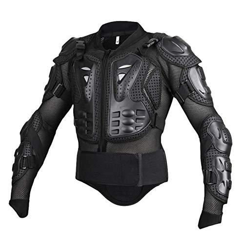 Yuanu Motos Coraza, Peto de Motocross con Protección de Pecho y Espalda, Montaña Ciclismo Patinaje Snowboarding Armadura Negro 1# L