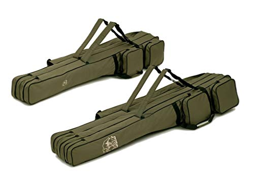 Behr Allround - Rutentasche, gefüttert, 150cm, mit 2 oder 3 Innenfächer für 4 BZW. 6 montierte Ruten, zusätzliche Außentaschen (2 Fächer)