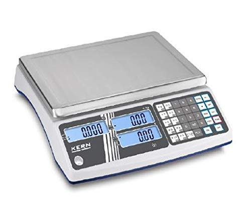 KERN RIB 30K 2HM Preisrechnende Waage Max 15kg 30kg e 0,005kg 0,01kg