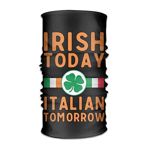 Ejdkdo Irish Italian Versatile Outdoors Daily Stylish Headwear Multifunctional Sport Headband Sweatband,Magic Scarf,Head Wrap,Neck Gaiter,Bandana,Helmet Liner, Balaclava,Tube Mask New10