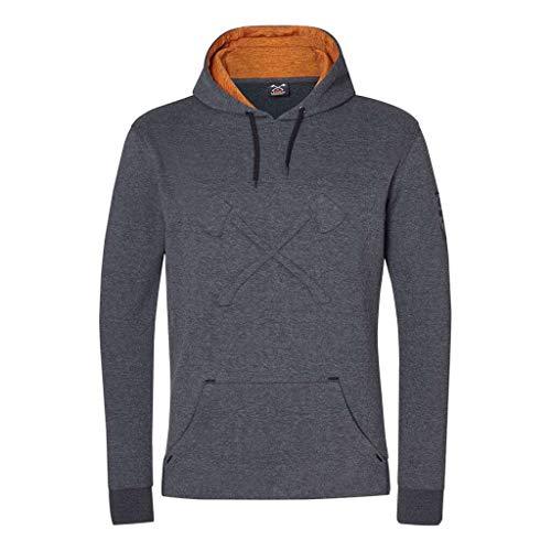 Stihl Hoodie Axe, grau/Orange Melange, s