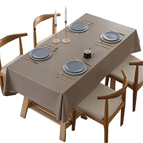 AOTEMAN Paño de mesa rectangular de color puro PVC impermeable y resistente al aceite, mantel de cocina para cafetería, restaurante, buffet Ttable decoración (B,140 x 200 cm)