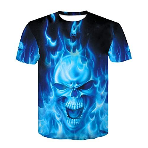 Camisas de verano de manga corta Ghost Rider Cool - ShirtBlue