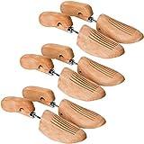 TecTake 800593-3 Paar Lotusholz Schuhspanner, Abhilfe bei drückenden Stellen, Universell für Damen- und