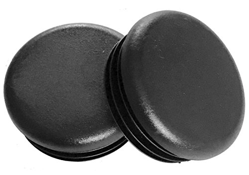 (Pack of 10) 1' Round OD - Out Side Diameter (14-20 Gauge) for Hole Size 0.84' to 0.93' ID | Black Plastic Tubing Plug, 1 Inch End Caps - Steel Furniture Foot - Table Chair Legs