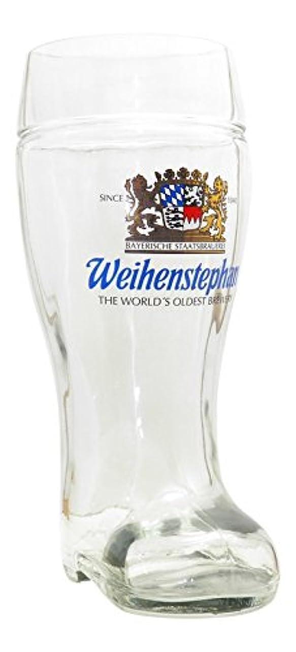 平行きらめく反射Weihenstephanerドイツビールブートガラス、1リットル