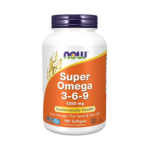 Now Foods SUPER OMEGA 3-6-9 1200mg - 180 Softgels