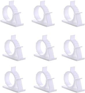 15個入ケーブルオーガナイザー 固定ワイヤークリップ 自己接着性および調整可能