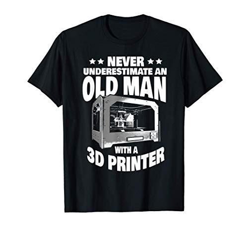 Uomo Mai sottovalutare un vecchio con una stampante 3D Papà Maglietta