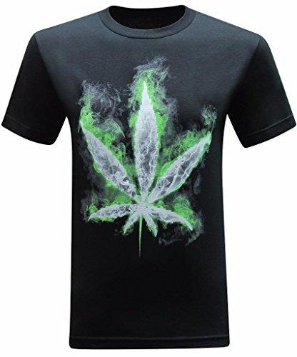 tees geek Up 'N Smoke Men's T-Shirt - (Large) - Black