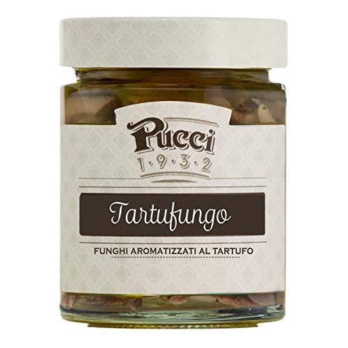 Pucci Tartufungo Funghi Aromatizzati al Tartufo Conserva Condimento per Bruschette Pasta e Secondi di Carne - Vasetto da 200g