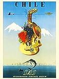 ABLERTRADE Aabletrade Blechschild, Motiv: Chile von