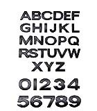 Autoaufkleber aus Papier Kfz-Buchstaben-Alphabet Auto Standard-Autoaufkleber auf Englisch Autoaufkleber für Stoßstange (Color : Black)