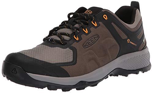 KEEN Men's Explore Waterproof Hiking Shoe, Canteen/Brindle, 10.5