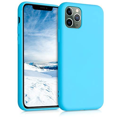 kwmobile Custodia Compatibile con Apple iPhone 11 PRO - Cover Silicone Gommato - Back Case Protezione Posteriore Cellulare - Azzurro Mare