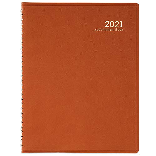 2021 Weekly Appointment Book/Planner - 53 Weeks Daily Planner Organizer, 15-Minute Increments, 8.5