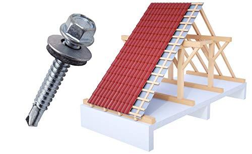 Trapezblech Schrauben Bohrschrauben Dach Fassadenschrauben 4,8x35mm 250 Stück - verzinkt