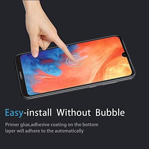Didisky Panzerglas Hartglas Displayschutzfolie für Huawei Y7 2019, [4er Pack ] Kratzfest, 9H Härte, Keine Blasen, High Definition, Einfach anzuwenden, Fall-freundlich - 4