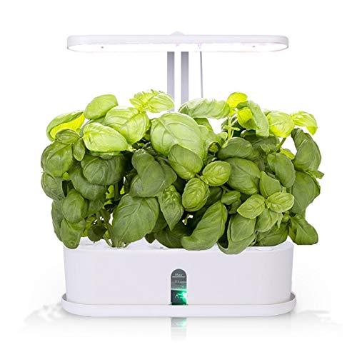 Smart Indoor Garden Anzuchtsystem, Hydroponik, bis zu 10 Pflanzen in 25-40 Tagen, Automatisches LED-Beleuchtungs und Bewässerungssystem, 2,5 L Wassertank, Grow It Smart