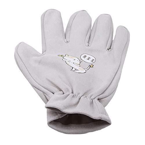 TuoTang Neue Katze Katze Handschuhe Hund Massage Badebürste Links und rechts Katze Pflege liefert Haustier Handschuhe,grau