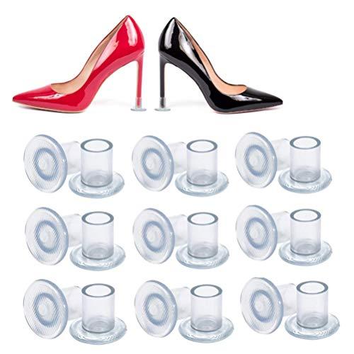 Protectores de tacón alto 【9 pares/3 tamaños】EAHOME - Tapones de silicona antideslizante para zapatos de baile, para bodas, fiestas