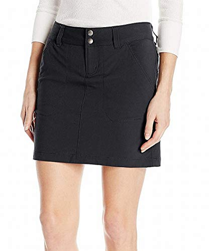Columbia Women's Saturday Trail Skort, Stain Resistant, Sun Protection, Black, 6
