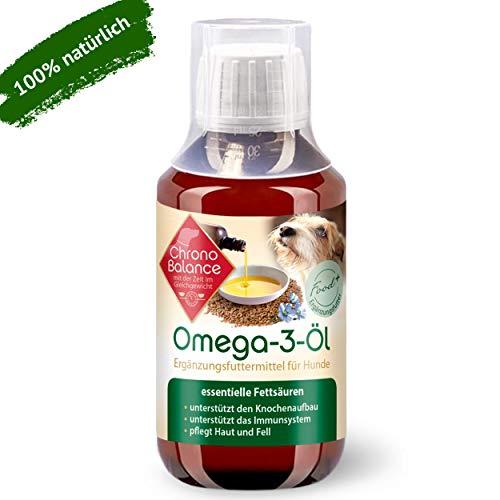 ChronoBalance® 100 ml di olio Omega 3 per cani, integratore alimentare naturale, nutre la pelle e il pelo – supporta il sistema immunitario