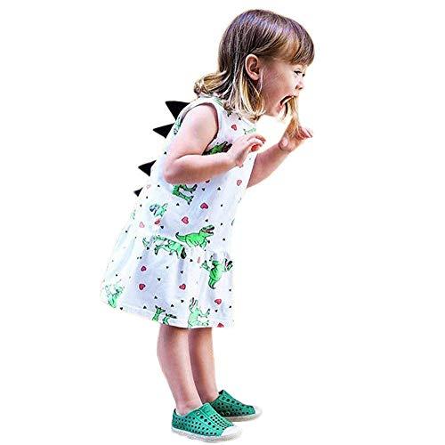 Vestido de nia,Riou Falda de Princesa de Dibujos Animados para nios con Estampado de Nubes en 3D estreo Aletas dorsales Vestidos sin Mangas Falda Princesa