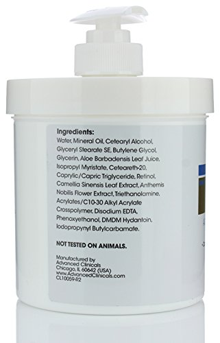 41kswWm0mjL - Advanced Clinicals Retinol Cream. Spa Size for Salon Professionals. Moisturizing Formula Penetrates Skin to Erase the Appearance of Fine Lines & Wrinkles. Fragrance Free. (Two - 16oz)