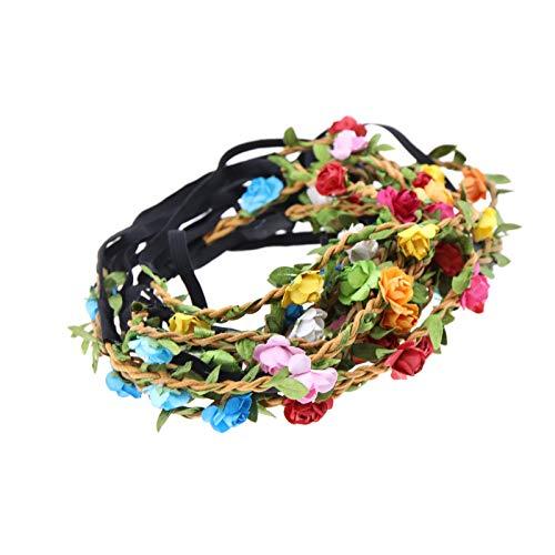 OTOTEC Haarbänder, Blumen, Rosa, Blumen, Haarband, Girlande, Farbe zufällig, Set mit elastischem Band, Festival, Hochzeit