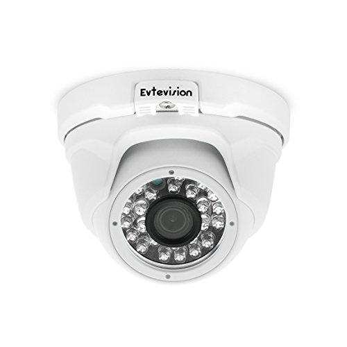 Evtevision 5MP AHD Kamera 4MP TVI/CVI Überwachungskamera IR Nachtsicht Metall Dome Kamera Wetterfest Outdoor/Indoor 33ft IR Entfernung Weitwinkel-Fit für 5MP AHD DVR 4MP TVI/CVI DVR und 960H DVR