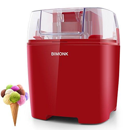 Ice Cream Maker, Detachable Frozen Bowl, Auto Shut-Off Timer, 1.5 Quart, BPA Free Electric ice Cream Machine for Kids DIY Frozen Yogurt, Gelato Or Sorbet Maker