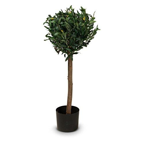 Olivenbaum Kunstpflanze MARIUS Kunstbaum, künstlicher Olivenbaum, 35x35x90 cm (L/B/H)
