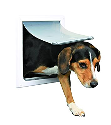 Trixie Pet Products 2-Way Locking Dog Door, Small to Medium Dogs, White